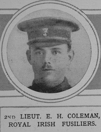 UK Photo And Social History Archive: C &emdash; Coleman E H 2nd Lt Royal Irish Fusilers The Illustrated London News 29th May 1915