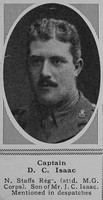 Isaac D C Captain North Staffordshire Regiment  attd. 41st Bn. Machine Gun Corps  The Sphere 2nd Jun 1917
