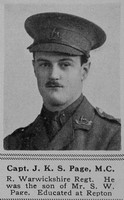 Page J K S Captain MC 9th R Warwicks Regt The Sphere 12th Oct 1918
