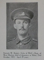 Bailey W Pte 8th West Riding Regt Craven Roll Of Honour
