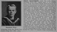 Fray M AB HMS Viknor RNVR Obit De Ruvignys Roll Of Honour Vol 2
