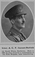 Garnett-Botfield A C F Lt 1st South Wales Borderers The Sphere 12th Jun 1915