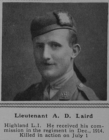 UK Photo Archive: L &emdash; Laird A D Lt 17th Highland Light Infantry The Sphere 16th Sep 1916