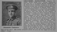Chalmers A Sapper 93621 Royal Engineers Obit De Ruvignys Roll Of Honour Vol 2