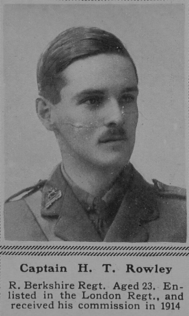 UK Photo Archive: R &emdash; Rowley H T Captain 9th Attd 2nd Royal Berkshire Regiment The Sphere 28th Oct 1916
