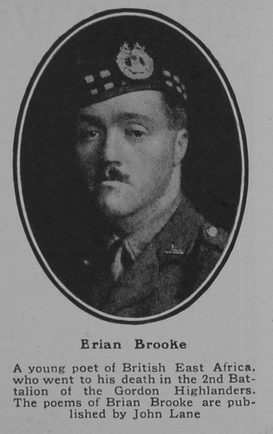 UK Photo Archive: B &emdash; Brooke B Captain 2nd Gordon Highlanders The Sphere 21st July 1917