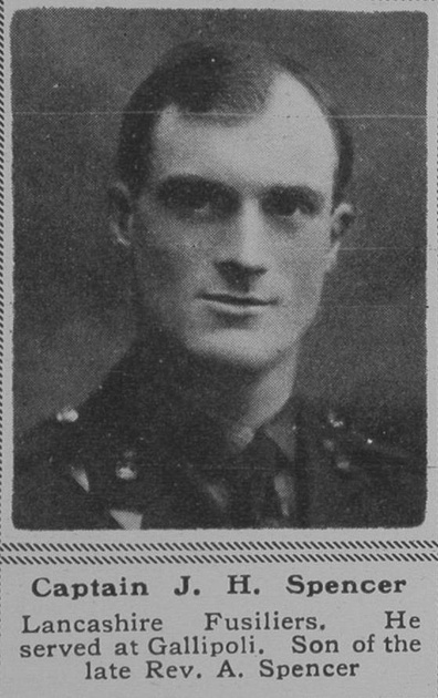 UK Photo Archive: S &emdash; Spencer J H Captain 1st Lancashire Fusiliers The Sphere 2nd Nov 1918