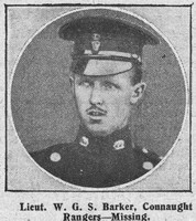 Barker W G S Lt Connaught Rangers The Graphic 5th Sep 1914