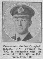 Campbell G Comm VC DSO Royal Navy The Graphic 21st Nov 1918