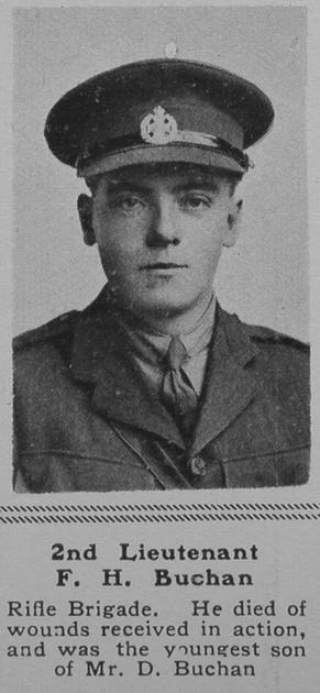 UK Photo Archive: B &emdash; Buchan F H 2nd Lt 11th Rifle Brigade The Sphere 19th Oct 1918