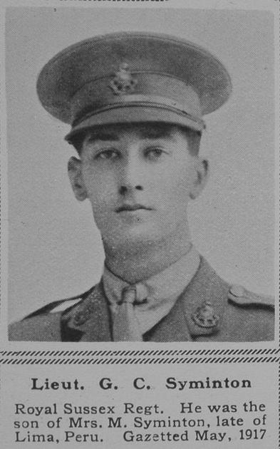 UK Photo Archive: S &emdash; Syminton G C Lt R Sussex Regt The Sphere 10th Nov 1917