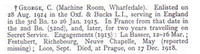 George C Pte 8904 2nd Oxford and Bucks Light Infantry Obit War Record Of The Oxford University Press 1923