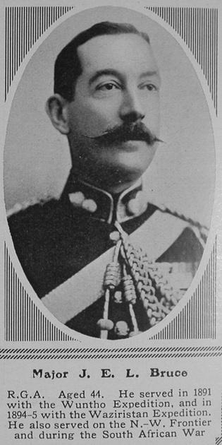 UK Photo Archive: B &emdash; Bruce J E L Major Royal Garrison Artillery The Sphere 17th Jul 1915