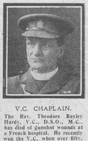 Hardy T B Rev VC DSO MC Army Chaplain The Graphic 21st Oct 1918