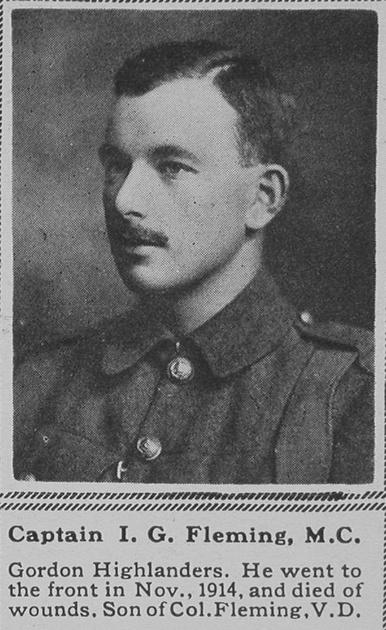UK Photo Archive: F &emdash; Fleming I G Captain MC Gordon Highlanders The Sphere 15th Sep 1917