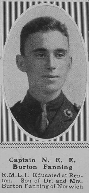 UK Photo Archive: B &emdash; Burton-Fanning N E E Captain RMLI The Sphere 10th Mar 1919