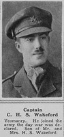 Wakeford C H S Captain Pembroke Yeomanry The Sphere 12th Oct 1918