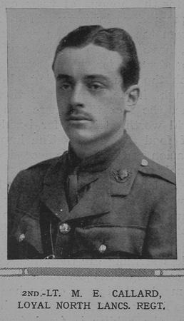 UK Photo And Social History Archive: C &emdash; Callard M E 2nd Lt Loyal North Lancs Regiment The Illustrated London News 13th Feb 1915