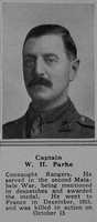 Parke W H Captain 6th Connaught Rangers The Sphere 23rd Dec 1916