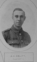 Ablitt A H Pte 11th Royal Fusiliers Lloyds Bank Memorial Album