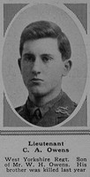 Owens C A Lt 13th attd 10th West Yorkshire Regiment (Prince of Wales's Own) The Sphere 3rd Mar 1917