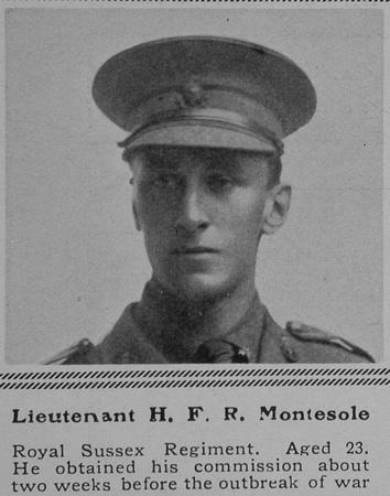 UK Photo Archive: M &emdash; Montesole H F R Lt Royal Sussex Regiment The Sphere 17th Jul 1915