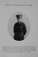 Clarke A R Pte 57th Australian Imperial Force Northern Assurance Co Record Of Service