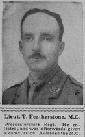 Featherstone T Lt MC Worcs Regt The Sphere 12th Jan 1918