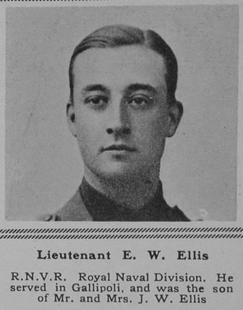 UK Photo Archive: E &emdash; Ellis E W Lt Hawke Btn RNVR The Sphere 26th May 1917