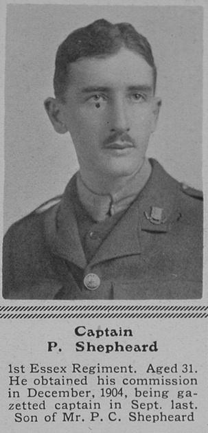 UK Photo Archive: S &emdash; Shepheard P Captain 1st Essex Regiment The Sphere 31st Jul 1915