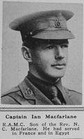 Macfarlane I Captain RAMC The Sphere 15th Sep 1917