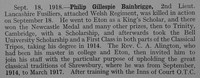Bainbrigge P G 2nd Lt 5th Lancashire Fusiliers Obit Part 1 Shrewsbury School Roll Of Service