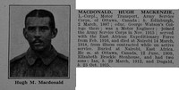 MacDonald H M LCpl Army Servce Corps Obit De Ruvignys Roll Of Honour Vol 4