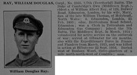 Ray W D Cpl 2105 7th Middlesex Regiment Obit De Ruvignys Roll Of Honour Vol 3