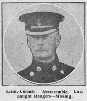 Abercrombie A W Lt Col 2nd Connaught Rangers The Graphic 4th Sep 1914