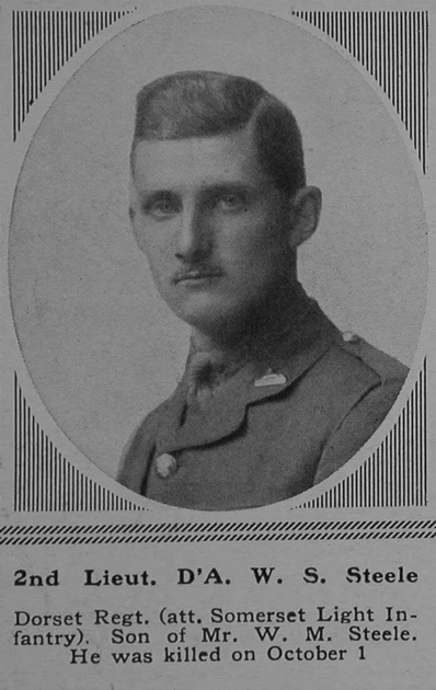 UK Photo Archive: S &emdash; Steele D'A W S 2nd Lt 3rd Dorsetshire Regiment Attd Somerset Light Infantry The Sphere 27th Jan 1917