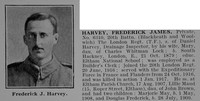 Harvey F J Pte 6310 20th ondon  Regiment Obit De Ruvignys Roll Of Honour Vol 2