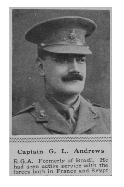 UK Photo Archive: A &emdash; Andrews G L Captain RGA The Sphere 6th July 1918