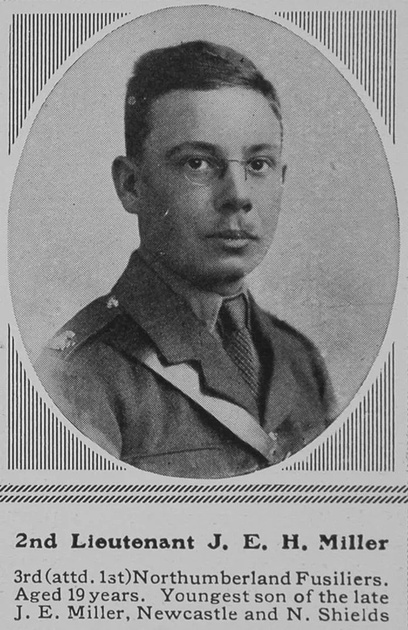 UK Photo Archive: M &emdash; Miller J E H 2nd Lt 1st Northumberland Fusiliers The Sphere 18th Mar 1916