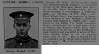 Taylor G J Pte 65363 1st Northumberland Fusiliers Obit De Ruvignys Roll Of Honour Vol 4