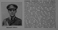 Oakes S 2nd Lt Royal Engineers Obit De Ruvignys Roll Of Honour Vol 3