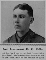 Kelly E R 2nd Lt 3rd Border Regiment The Sphere 21st Aug 1915