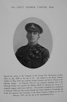Carter G 2nd Lt MM Royal Garrison Artillery Northern Assurance Co War Record