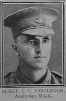 Castleton C C Sergt VC Aust MGC The Great War Vol 10