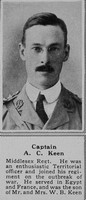 Keen A C Captain 7th Middx Regt The Sphere 12th Oct 1918