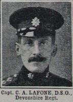 Lafone C A Captain DSO Devon Regt The War Illustrated 10th Apr 1915