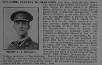 Helmore S T J 2nd Lt 23rd Royal Fusiliers Attd Royal Air Force Obit De Ruvignys Roll Of Honour Vol 4