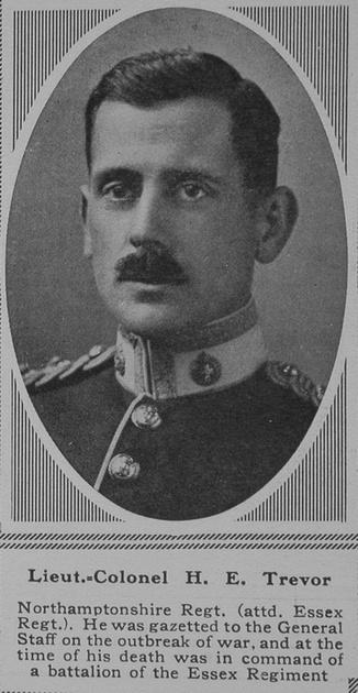 UK Photo Archive: T &emdash; Trevor H E Lt Col 9th Essex Regt The Sphere 16th June 1917