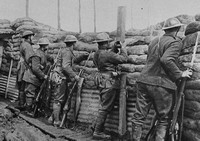 Canadian Infantry In The Trenches Ready To Repel An Attack