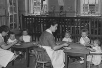 The Baby Room At Kingsway Creche 1950s